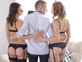 The two girls get fondled by Maia's young boyfriend before..